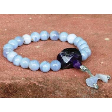 Agate, Blue Lace Agate Wrist Mala
