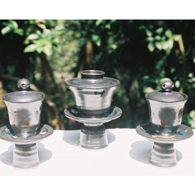Color Dots Stoneware Tea, Saké & Ink Sets