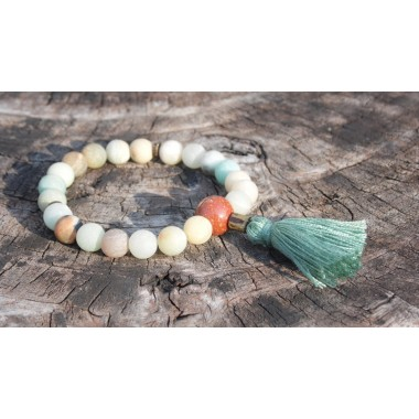 Matte Multi-Colored Amazonite Wrist Mala