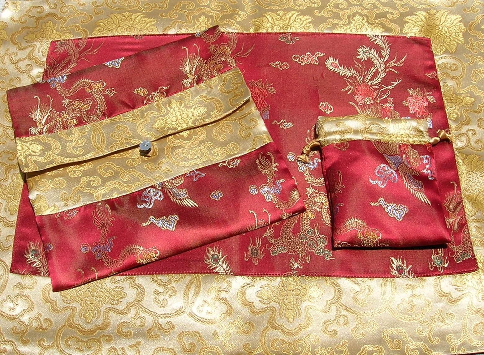 Buy wholesale burgundy dragons gold lotus flowers silk brocade burgundy dragons gold lotus flowers silk brocade puja table cloth izmirmasajfo