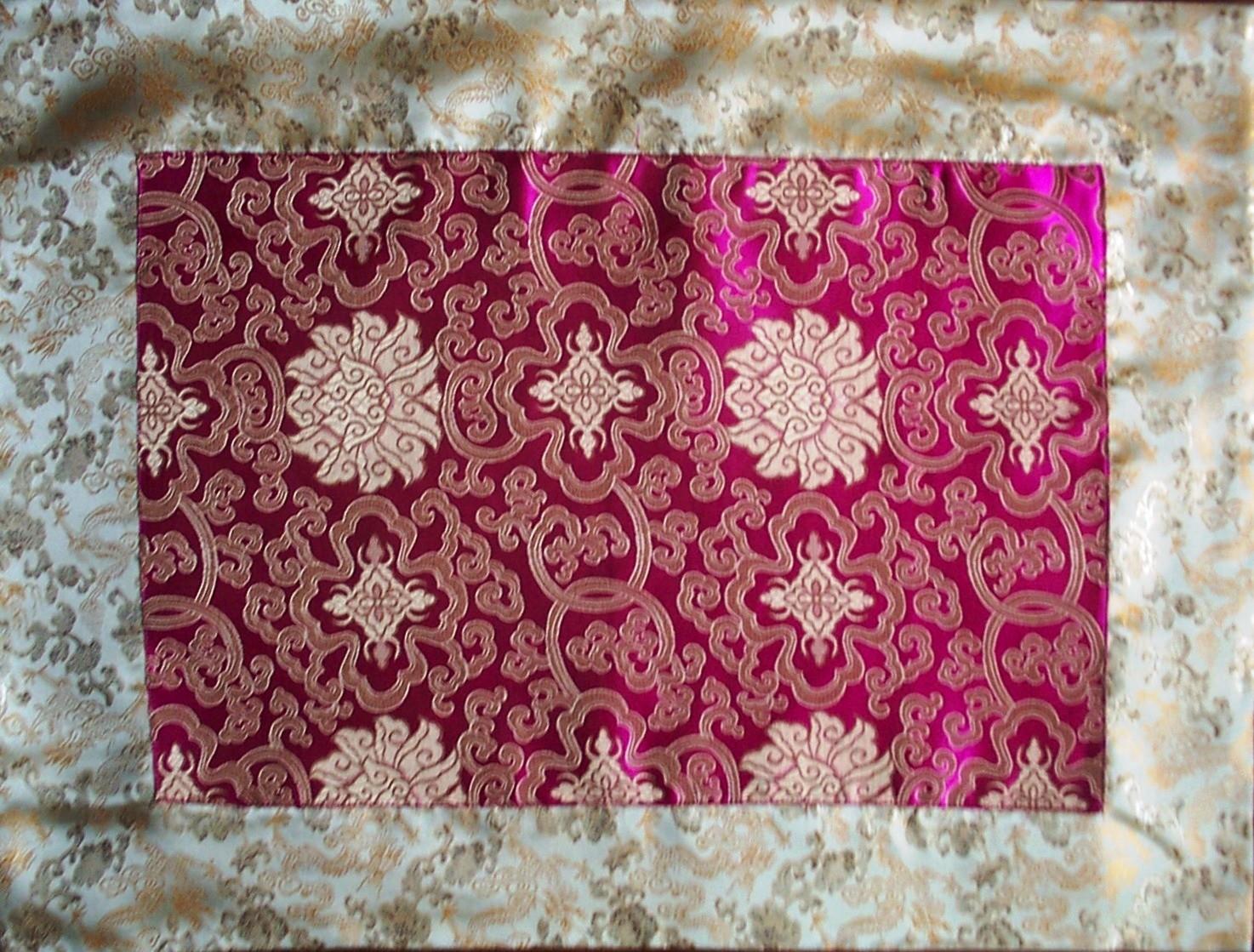 Buy Wholesale Pink Lotus Flowers Gold Dragons Silk Brocade Puja