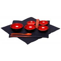 Lacquer 5-Bowl Jihatsu Set