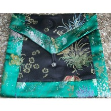 Black & Green Flowers Brocade Text Cover