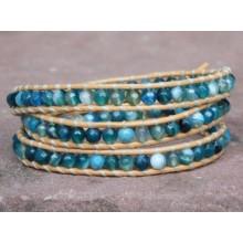 Blue Sardonyx Agate Wrap Bracelet