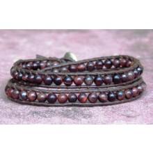 Red Tigers Eye Wrap Bracelet