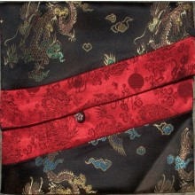 Black & Red Dragons Brocade Text Cover