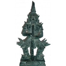 Resin Yaksha Guardian Statue