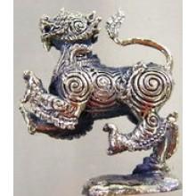 Brass Guardian Lion Statue