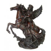 Resin Angel on a Horse Statue