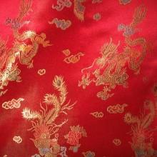Brocade Altar Cloths with Dragons & Peacocks Brocade