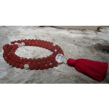 Faceted Carnelian Mala