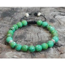 Faceted African Turquoise Wrist Mala