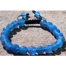 Faceted Blue Agate Wrist Malas