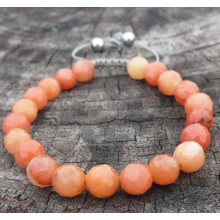 Faceted Orange Aventurine Wrist Mala