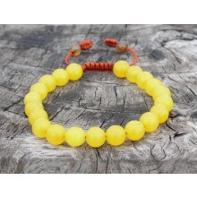 Faceted Yellow Agate Wrist Mala