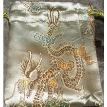 Dragons & Peacocks Brocade Mala Bags