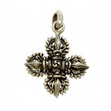 Brass Double Dorje Pendant