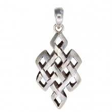 Silver Knot of Eternity Pendant