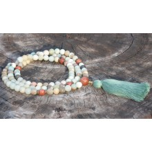 Multi-Colored Matte Amazonite Mala