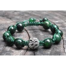 Maw-Sit-Sit Shamballa Bracelet with Silver Dragon Bead
