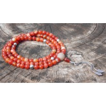 Orange Sardonyx Agate Mala
