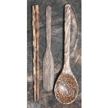 Palm Wood Utensil Set, Thin Handle Setsu