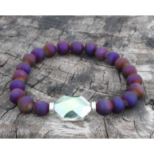 Purple Titanium Druzzy Agate Wrist Mala