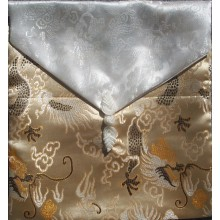 Gold & White Dragons Reversible Brocade Text Cover