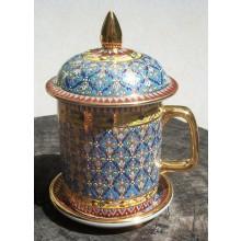 Turquoise Flower Bouquet Mug
