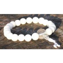 White Agate Wrist Mala