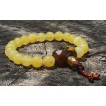 Yellow Agate Wrist Mala