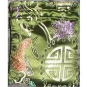 Auspicious Symbols Brocade Mala Bags